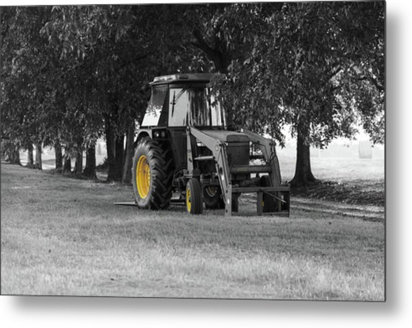 Metal Print featuring the photograph John Deere 620 In Selective Color by Doug Camara