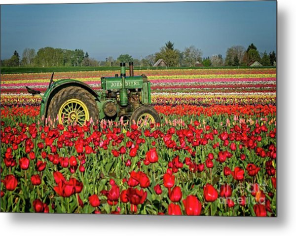 Metal Print featuring the photograph John Deere by Craig Leaper