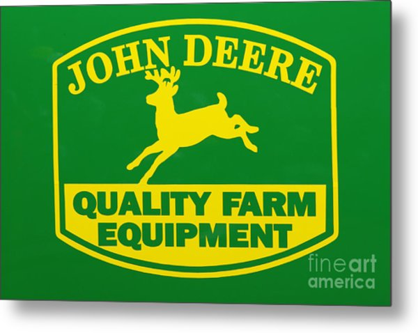 John Deere Farm Equipment Sign Metal Print