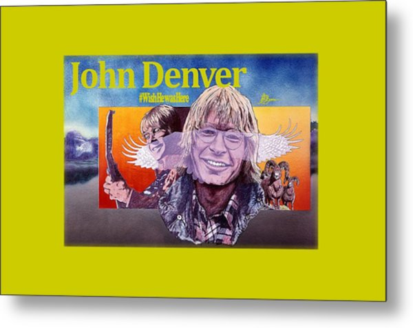 John Denver Shirt Metal Print