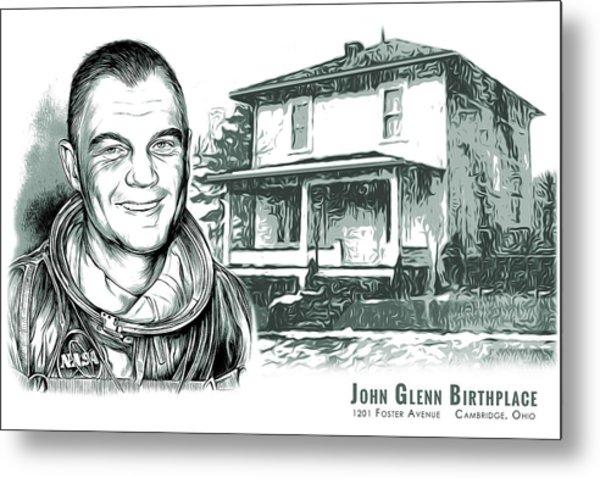 John Glenn Birthplace Bw Metal Print