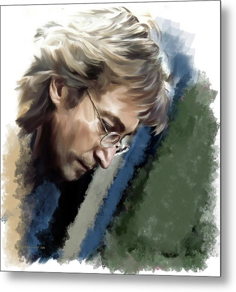 John Lennon Caring To Know Metal Print by Iconic Images Art Gallery David Pucciarelli