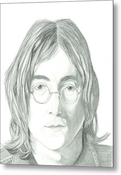 John Lennon Portrait Metal Print by Seventh Son