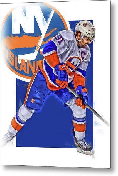 John Tavares New York Islanders Oil Art Series 2 Metal Print