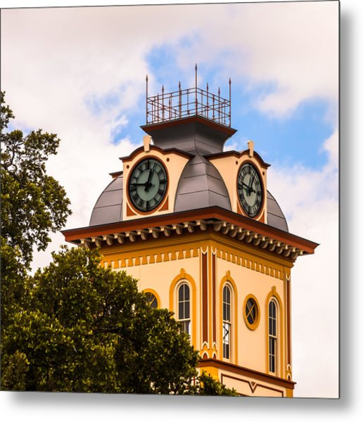 John W. Hargis Hall Clock Tower Metal Print