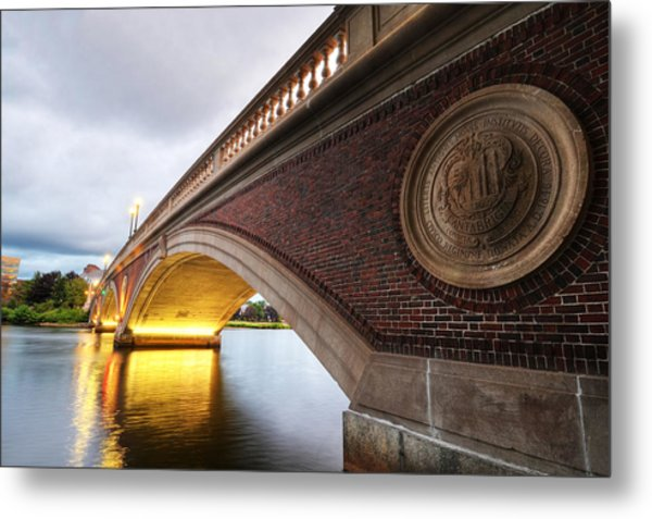 John Weeks Bridge Charles River Harvard Square Cambridge Ma Metal Print