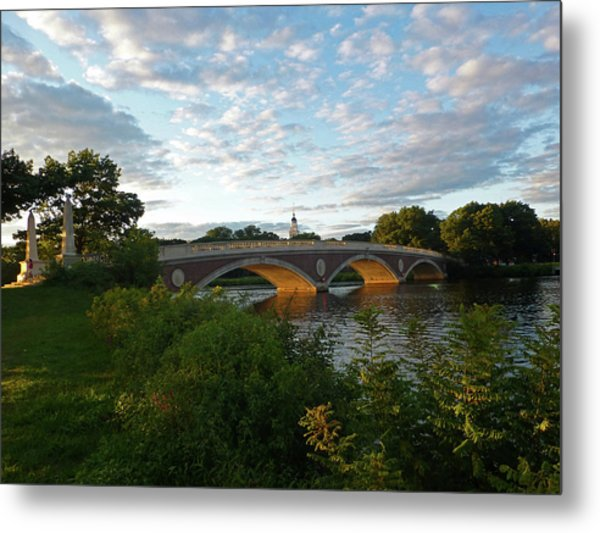 John Weeks Bridge In Harvard Square Cambridge Metal Print