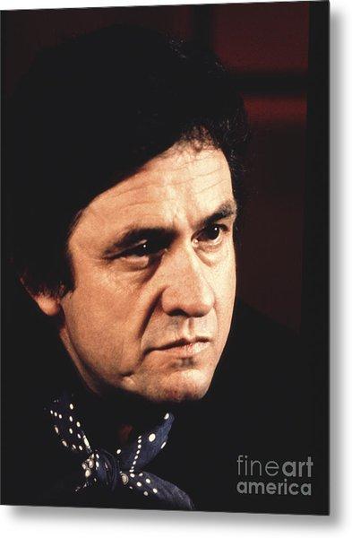 Johnny Cash The Man In Black Metal Print