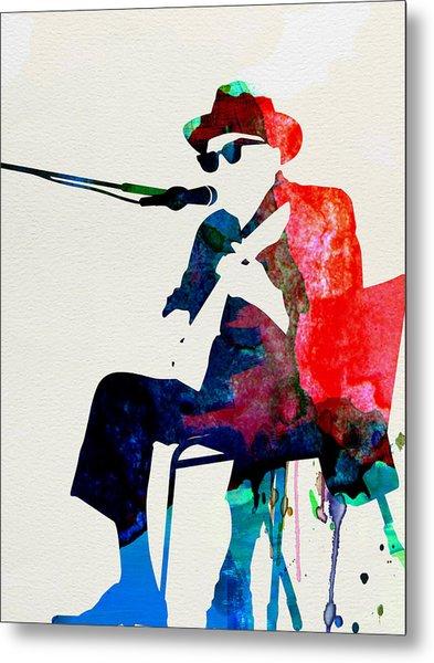 Johnny Lee Hooker Watercolor Metal Print