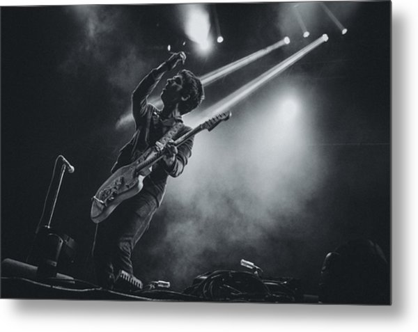 Johnny Marr Playing Live Metal Print