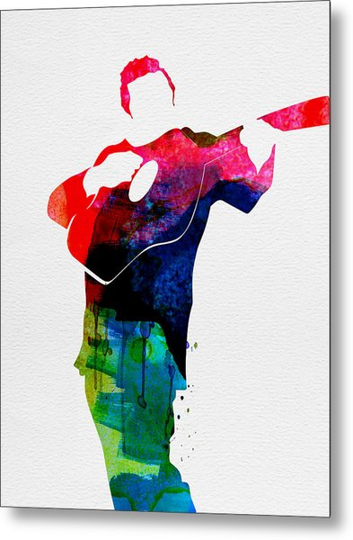 Johnny Watercolor Metal Print
