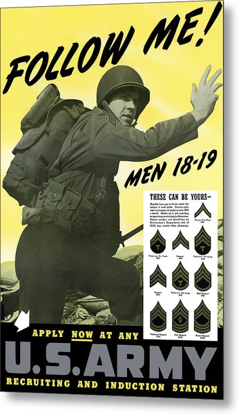 Join The Us Army - Follow Me Metal Print