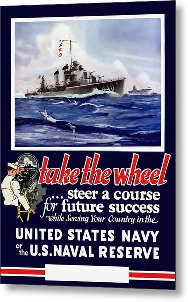 Join The Us Navy - Ww2 Metal Print