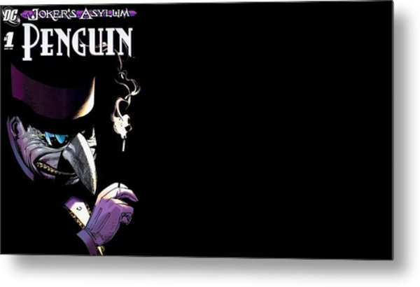 Joker's Asylum Metal Print
