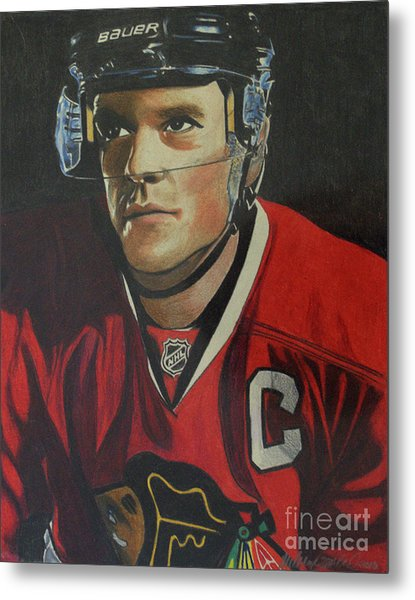 Jonathan Toews Portrait Metal Print