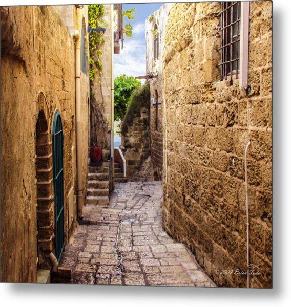 Joppa Israel Passageway Metal Print