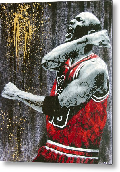Jordan - The Best There Ever Was Metal Print by Bobby Zeik