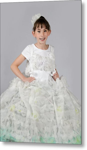 Josette In Dryer Sheet Dress Metal Print