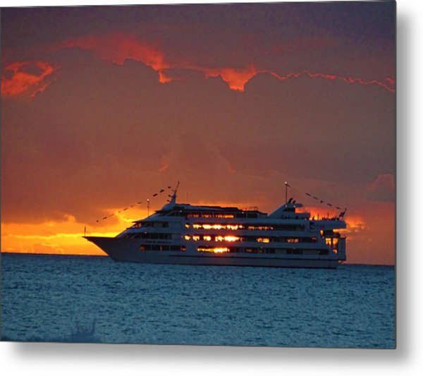 Journey At Sunset Metal Print