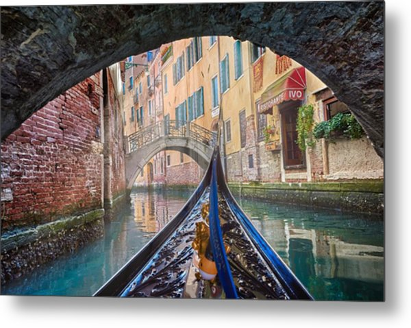 Journey Through Dreams - A Ride On The Canals Of Venice, Italy Metal Print