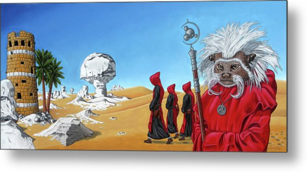 Journey To The White Desert Metal Print