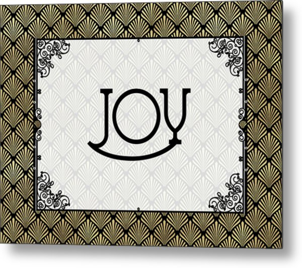 Joy - Art Deco Metal Print