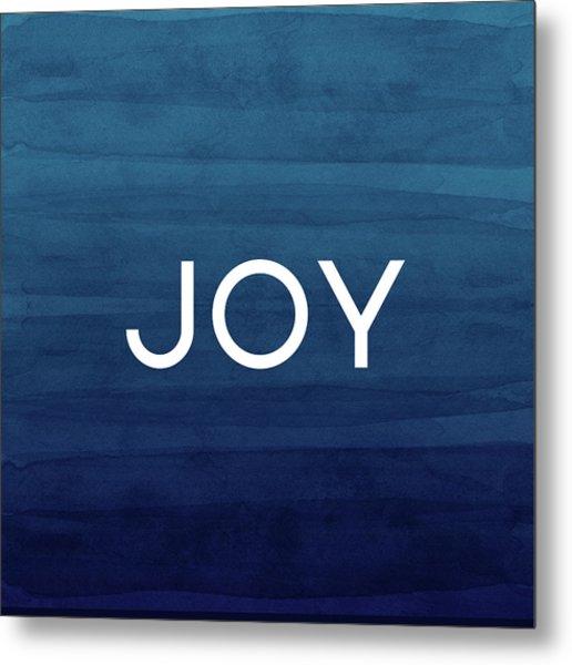 Joy Blue- Art By Linda Woods Metal Print