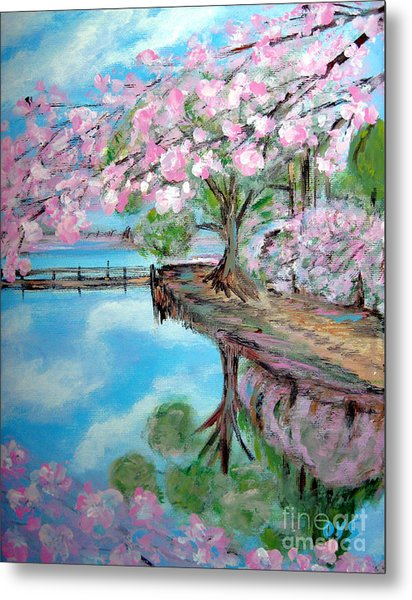 Joy Of Spring. Acrylic Painting For Sale Metal Print