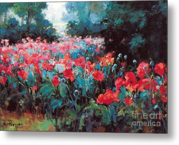 Metal Print featuring the painting Joy by Rosario Piazza