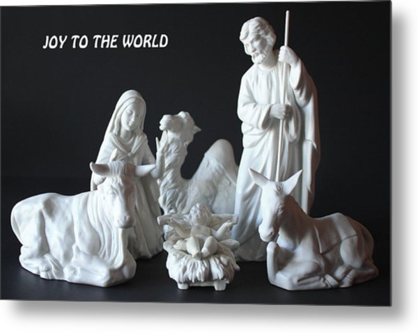Joy To The World Metal Print by Angela Comperry