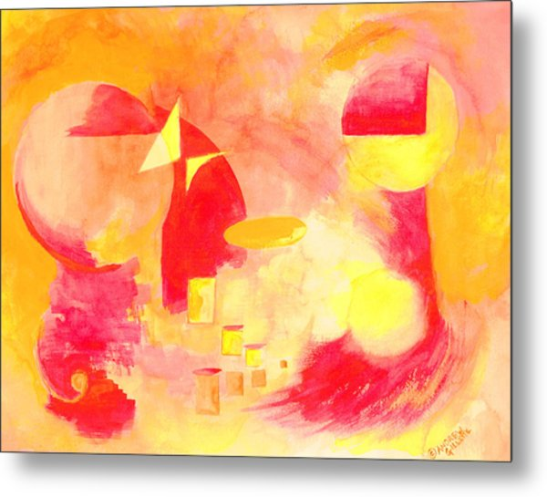Joyful Abstract Metal Print