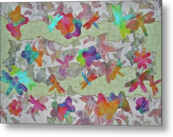 Joyful And Free Metal Print by Bonnie Lanzillotta