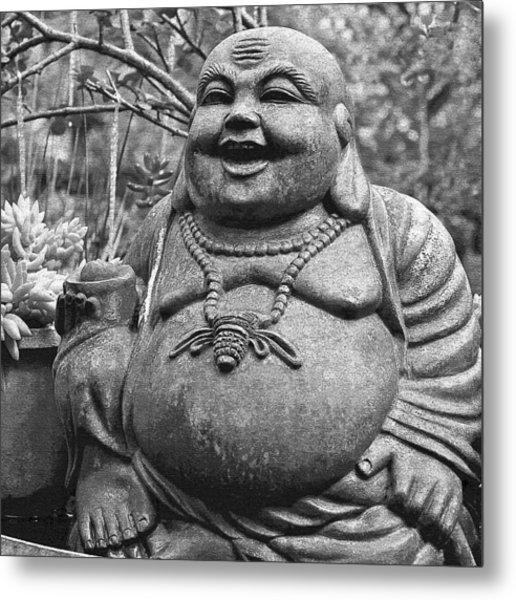 Joyful Lord Buddha Metal Print