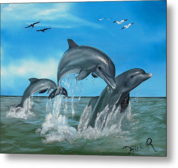 Joyful Trio Metal Print by Darlene Green