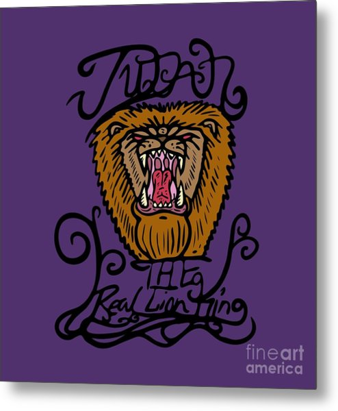 Judah The Real Lion King Metal Print