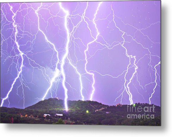 Judgement Day Lightning Metal Print