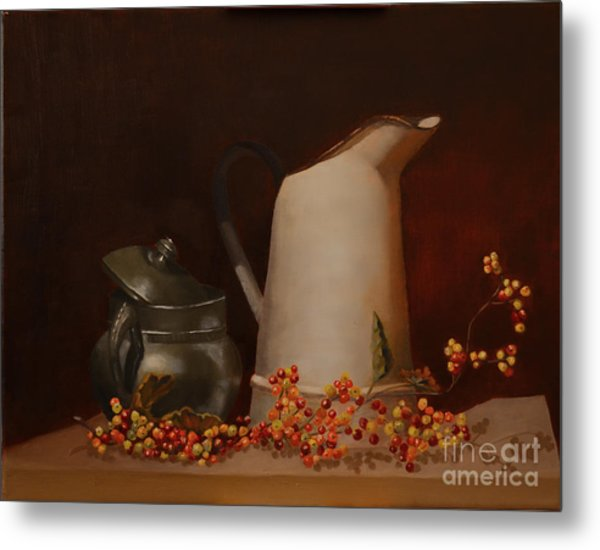 Metal Print featuring the painting Jugs by Genevieve Brown