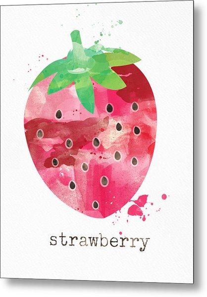 Juicy Strawberry Metal Print