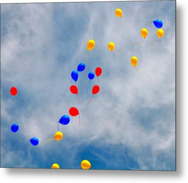 Julian Assange Balloons Metal Print