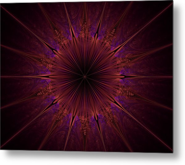 The Violet Blessings Of The Crown Chakra Metal Print