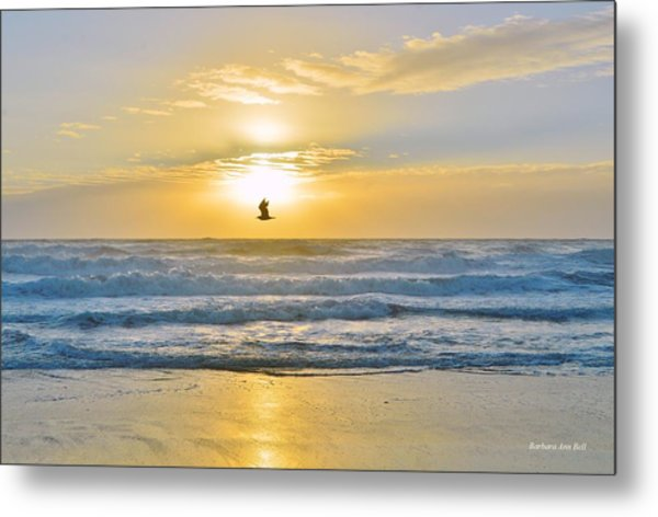 July 30 Sunrise Nh Metal Print