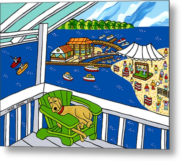 July 4th Snoozer - Cedar Key Metal Print