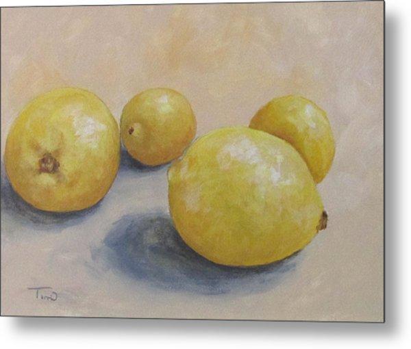 June Lemons Metal Print