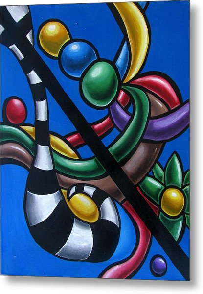 Original Colorful Abstract Art Painting - Multicolored Chromatic Artwork Painting Metal Print