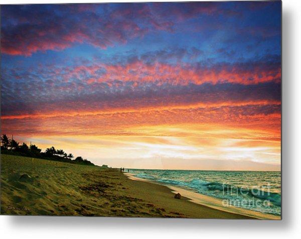 Juno Beach Florida Sunrise Seascape D7 Metal Print