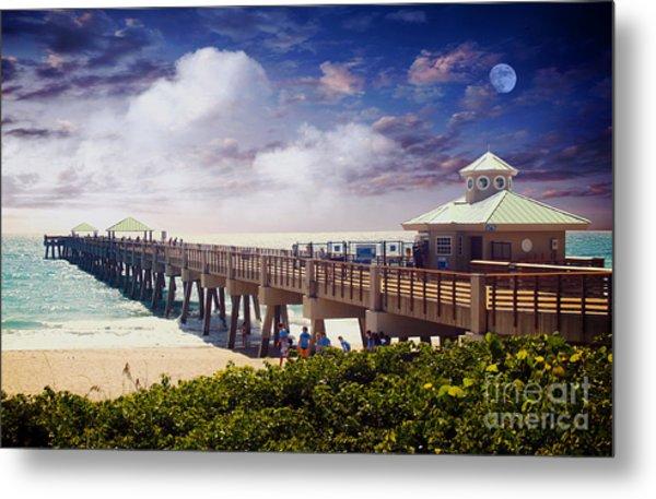 Juno Beach Pier Treasure Coast Florida Seascape Dawn C5a Metal Print