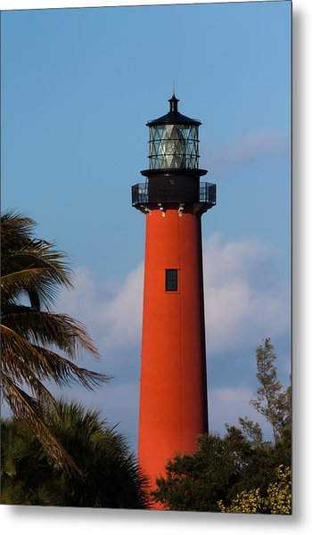 Metal Print featuring the photograph Jupiter Inlet Lighthouse by Ed Gleichman