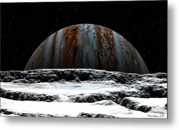Jupiter Rise At Europa Metal Print