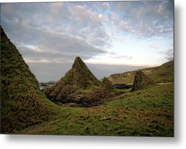 Jurassic Coastline At Ballintoy Metal Print