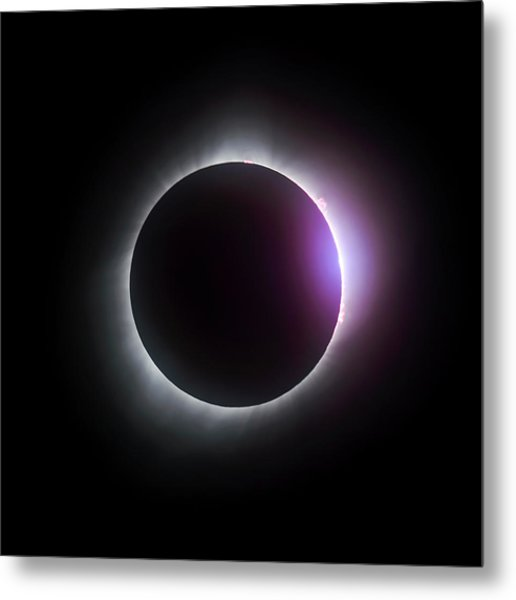 Just After Totality - Solar Eclipse August 21, 2017 Metal Print
